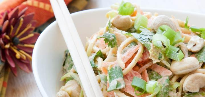 Easy Raw Pad Thai Salad
