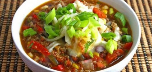 Tomato Chili with Taco Nut Meat