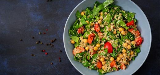 Vegan Protein Salad with Tahini Dressing
