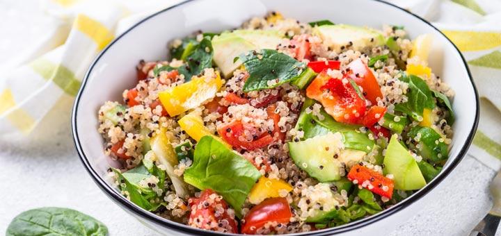 Greek Quinoa & Avocado Salad