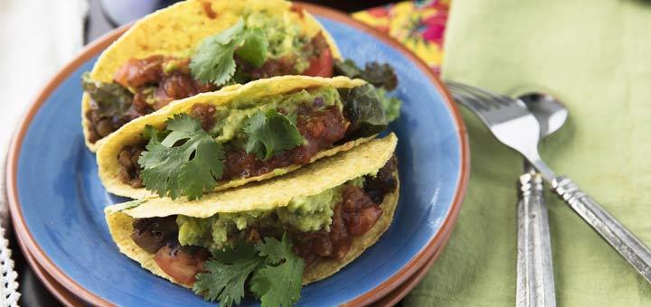 Smoky Lentil Tacos with Kabocha Squash & Green Tomato Salsa