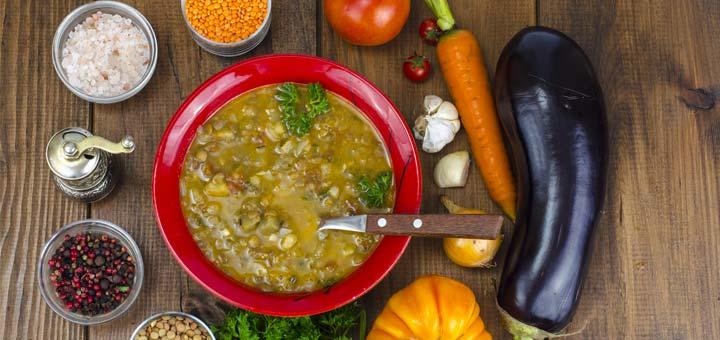 Eggplant and Lentil Stew