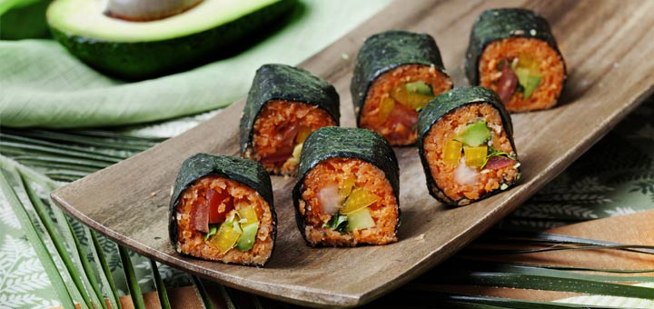 Nori Rolls With Carrot And Ginger Pate