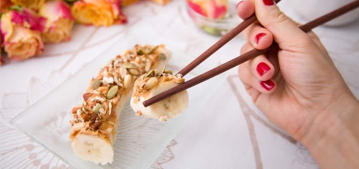 Raw Banana Breakfast Sushi