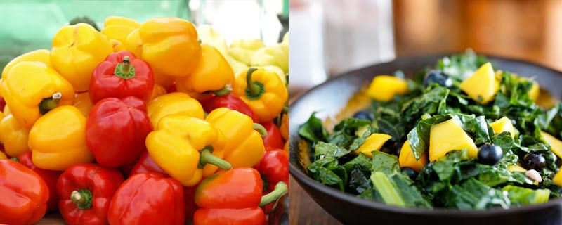 kale-and-peppers