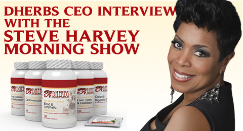 Steve Harvey Morning Show interviews Dherbs CEO