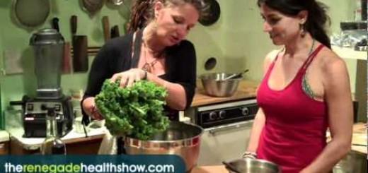 Raw Food Recipe for Yummy Asian Kale Salad