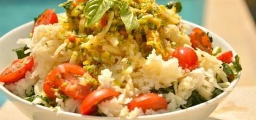 "Raw Jicama ""Rice"" & Orange Spice"