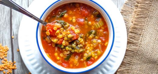 Fight A Cold With This Spiced Tomato, Kale, and Red Lentil Soup