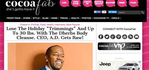 Dherbs CEO A.D. Dolphin Gets Raw with CocoaFab.com