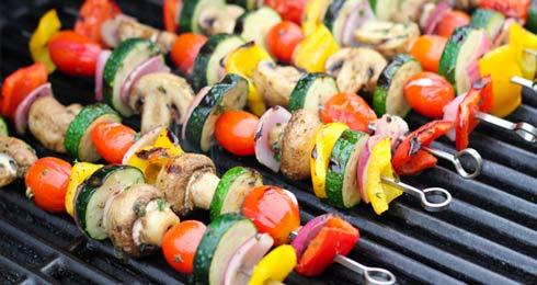 Grilled Vegetable and Mushroom Kabobs
