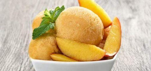 No-Churn Homemade Vegan Peach Ice Cream