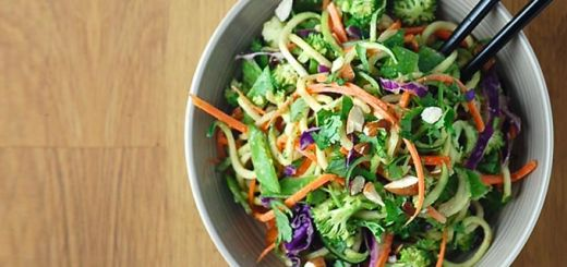 Raw Pad Thai With Spicy Almond Butter Sauce