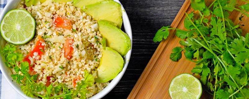 Raw Cauliflower Rice with a Mexican Flare