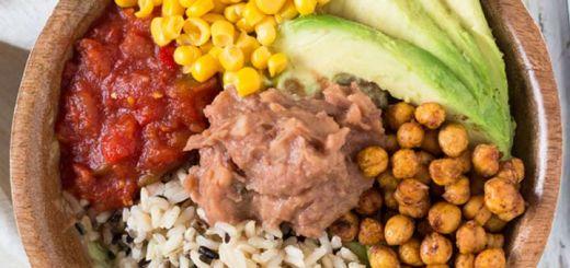 Wild Rice Burrito Bowl & Creamy Cilantro Dressing