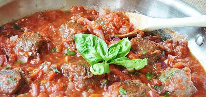 """Vegan Black Bean """"Meatballs"""" In Marinara Sauce"""