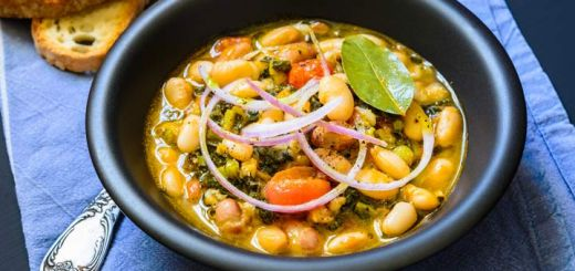 Kale, Butternut Squash, And White Bean Stew