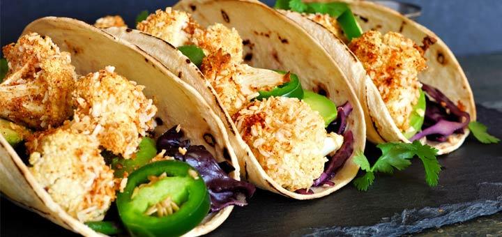 Roasted Cauliflower Tacos With A Spicy Avocado Crema