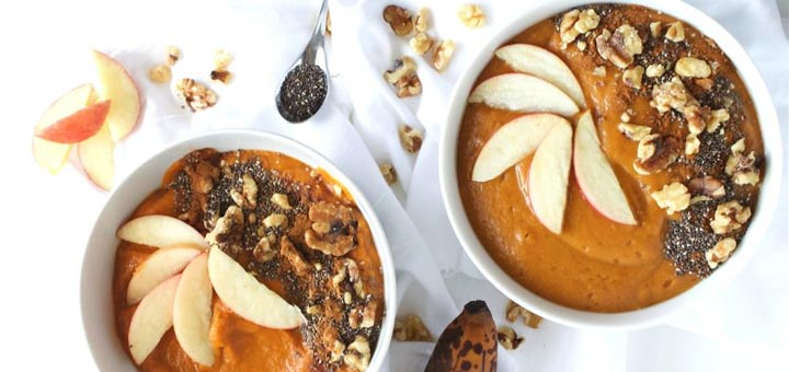 Pumpkin Pie Smoothie Bowl (For Breakfast Or Dessert)
