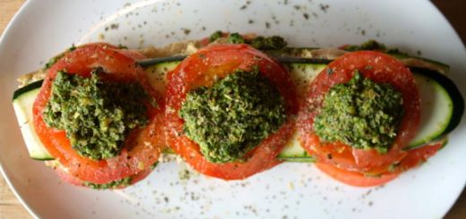 Raw Vegan Lasagna with Homemade Cashew Cheese & Pesto