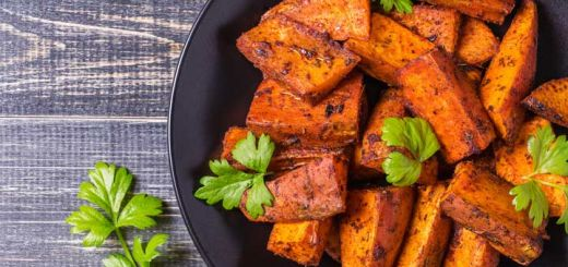 Cinnamon Roasted Sweet Potatoes with Fresh Cranberries