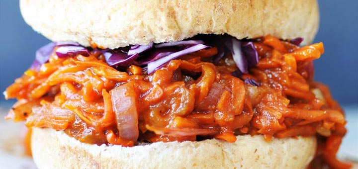 Shredded BBQ Carrot Sandwiches With Homemade BBQ Sauce