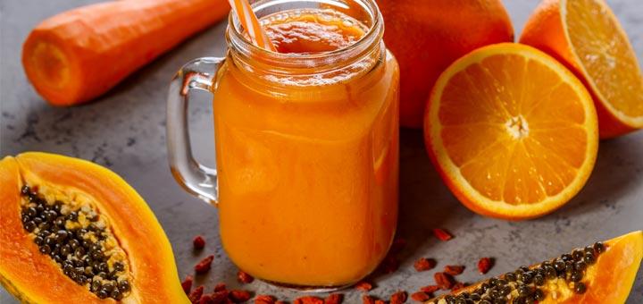carrot-papaya-smoothie