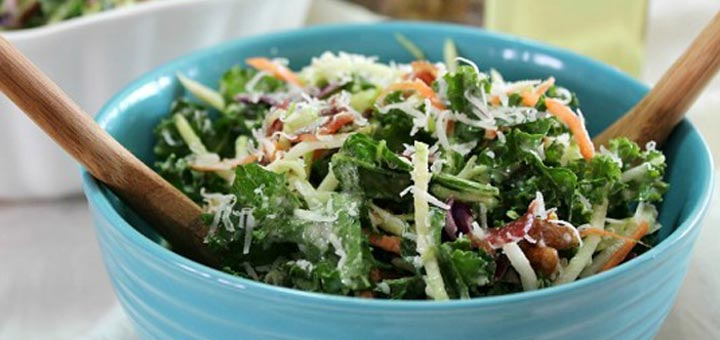 Shredded Kale & Broccoli Slaw Salad