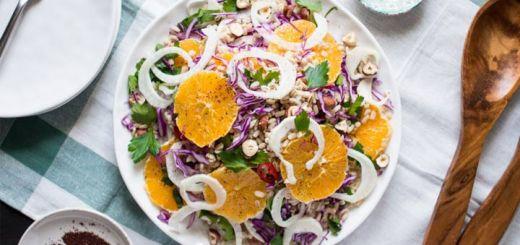 Vegan Fennel, Orange, & Barley Wheat Salad