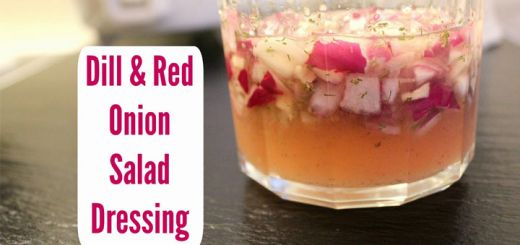 Herbaceous Dill Dressing With Red Onion