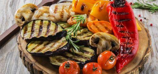 Grilled Vegetables With A Basil Vinaigrette