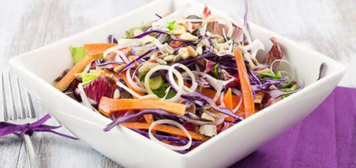 Colorful Cabbage Salad To Help Reduce Cholesterol