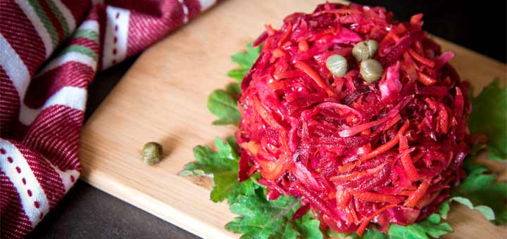 Homemade Beet And Red Cabbage Sauerkraut