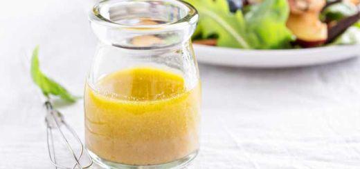 Lemon Basil Flaxseed Salad Dressing