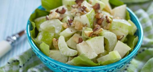 Celery Apple Salad With A Lemon Vinaigrette