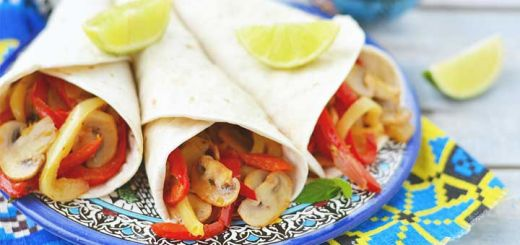 Vegetarian Mushroom Fajitas With A Kick