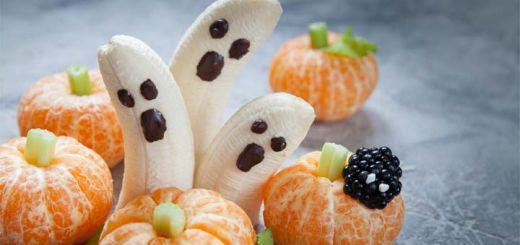 Halloween Banana Ghosts And Clementine Pumpkins