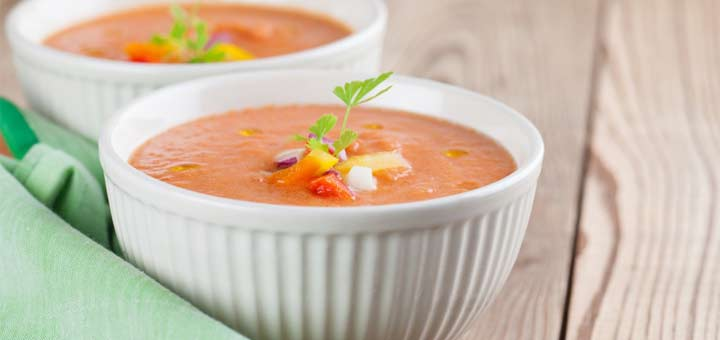 Golden Bell Pepper Soup With Sweet Potatoes