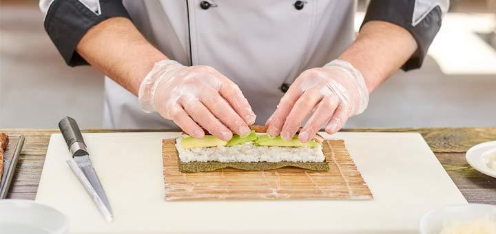 Raw Parsnip Sushi Roll