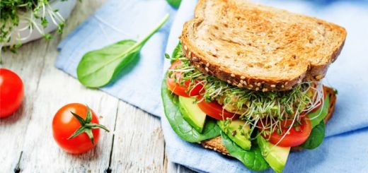 Fresh Vegetable Sandwich With An Avocado Dressing