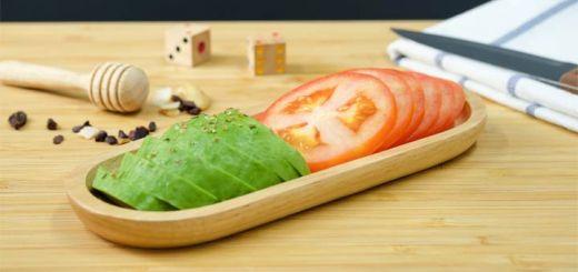 Raw Avocado Caprese Salad