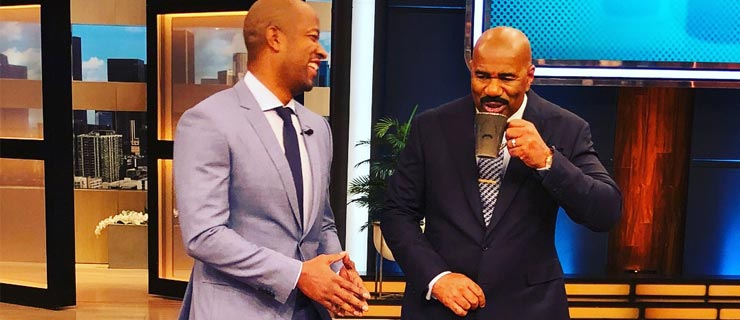 A.D. Dolphin Shares Cleansing Tips With Steve Harvey