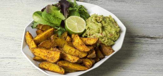 Potato Wedges With An Avocado Dip