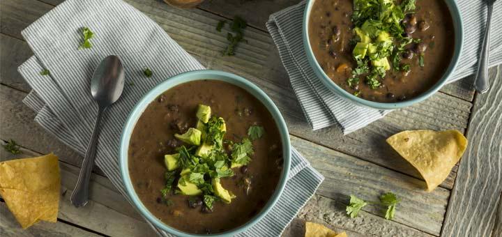 Spicy Vegan Black Bean Soup