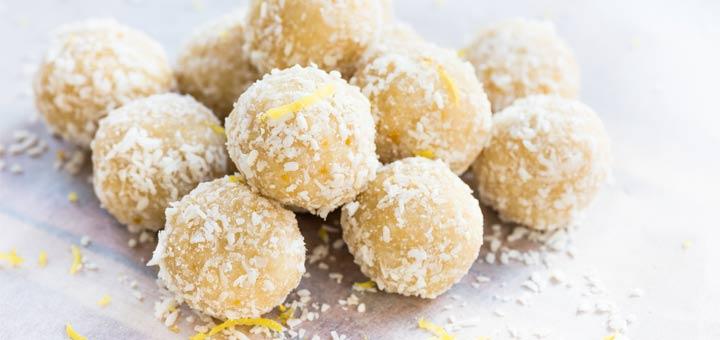 Lemon Ginger Protein Power Bites
