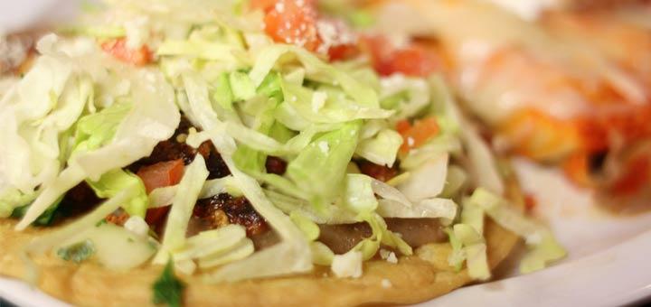Raw Vegan Tostada With Raw Taco Meat