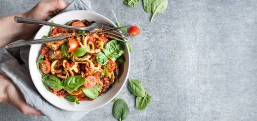 Zoodles With Veggies In A Raw-Mato Sauce