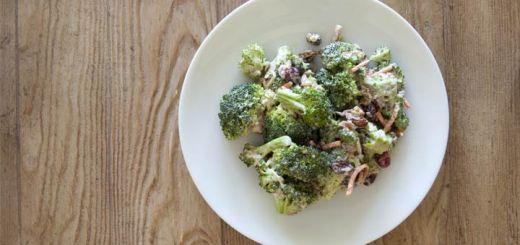 Skinny Broccoli And Grape Salad