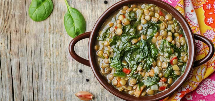One Pot Lentils With Quinoa And Spinach