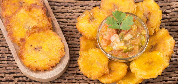 Tostones With A Blended Mango Salsa
